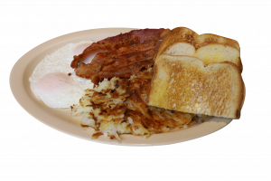 bacon and eggs plate