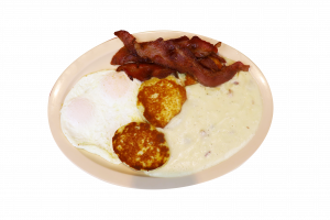 Biscuit and gravy plate