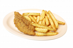 chicken strip with fries